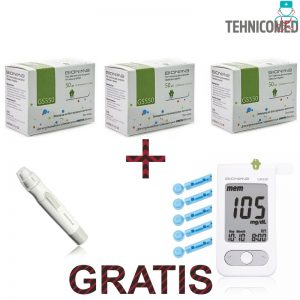 Pachet Promo Teste Bionime GS550 + Glucometru GM550